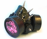Cyber Respirator Black with Spikes & UV Pink Kitty