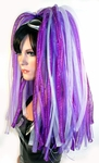 Cyberlox Dreadlox Hair Falls UV Purple Violet