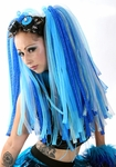 Cyberlox Dreads Falls UV Blue and Silver
