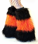 Fluffies in Black / Orange Red Yellow Fire Monster