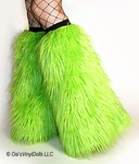 Lime Green Fluffies Leg Warmers
