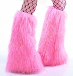 Sparkle Cotton Candy Pink Fluffies Leg Warmers