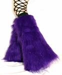 Sparkle Purple Fluffies Leg Warmers
