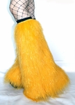Sparkle Yellow Fluffies Leg Warmers
