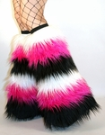 Go Go Fur Boot Covers UV White, Hot Pink, Black