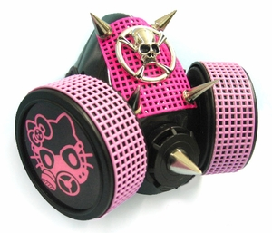 Hello Kitty Skull Cyber Gas Mask Respirator