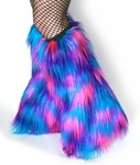 Hot Pink Purple Blue Multi Color Fluffies