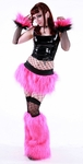 Hot Pink Sparkle Furry Rave Outfit