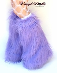 Lilac Light Purple Fluffies Leg Warmers