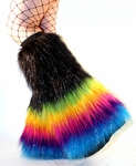 Midnight Rainbow Fluffies, Fuzzy Boot Covers