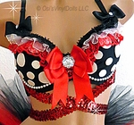 Minnie Mouse inspired Rave Bra