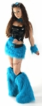 Neon Blue Turquoise Furry Outfits