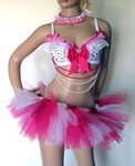 Pink White Barbie Doll Rave Outfit