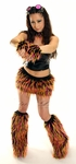 Pink Yellow Monster Furry Outfits Burning Man Costume