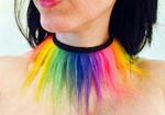 Rainbow Furry Choker Collar