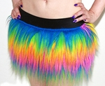 Rainbow Furry Rave Skirt