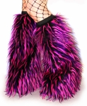Rave Monster Fluffies Hot Pink, Purple, Black Fur Legwarmers