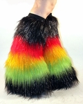 Rave Rasta Fluffies UV Sparkle Black, Red, Yellow, Green