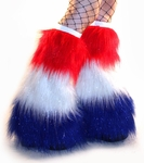 Red, White and Blue Patriotic Fluffies Leg Warmers