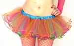 Reversible Rave TuTu Multi Color Orange Blue