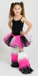 Glitter 3 strips Kids Custom Fluffies Leg Warmers