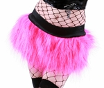 Sparkle Hot Pink Furry Skirt