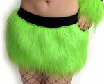 Sparkle Lime Green Furry Skirt