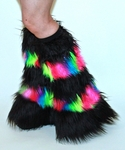 Striped Black Neon Rainbow Fluffies