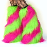 Swirl Rave Fluffies Sparkle Hot Pink & Lime
