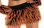 UV Hot Pink, Yellow, Black Monster Fur Skirt