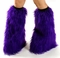 Purple Fluffies Leg Warmers