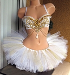 White Gold Goddess Rave Outfit