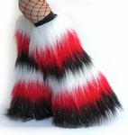 White, Red, Black Sparkle Striped Fluffies