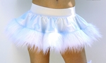 White Vinyl and Fur Rave Skirt