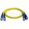 Multimode Duplex Fiber Optic SC Cable 75 Meters