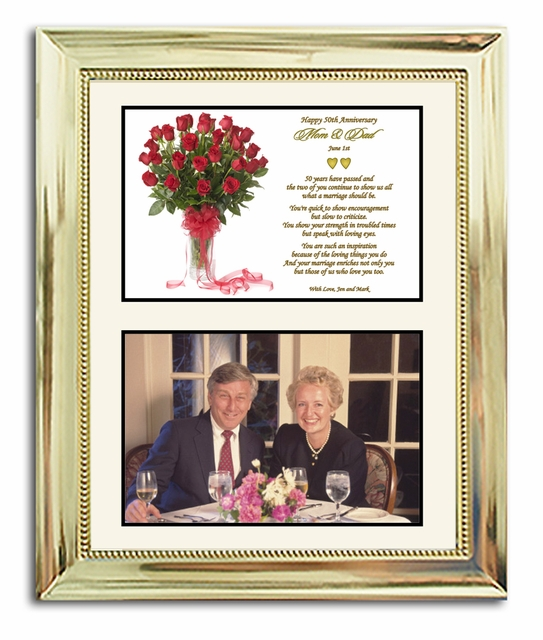 Home > 50th Anniversary > 50th Wedding Anniversary Gift In Gold 8x10 ...