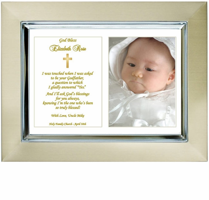 baptism frame from godfather