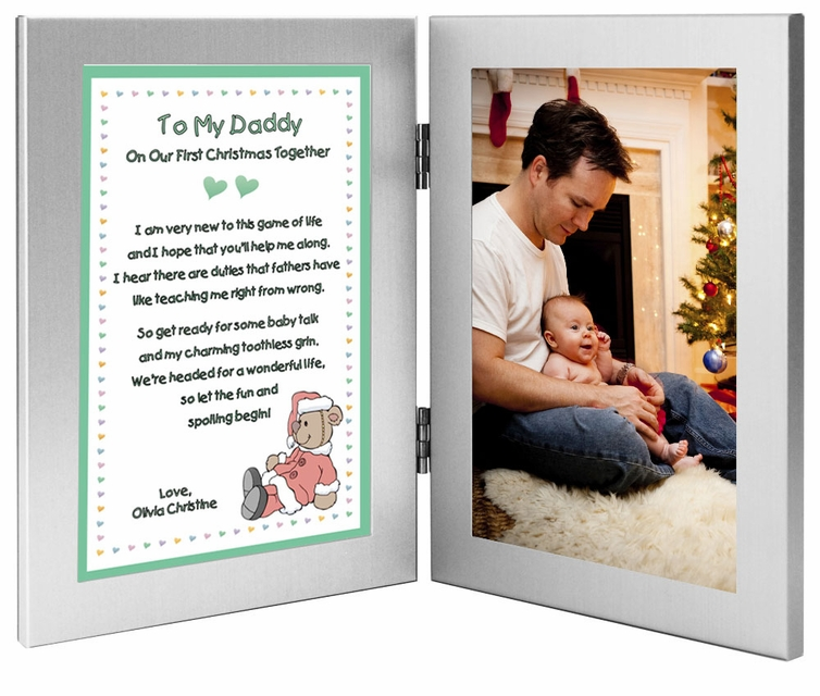 daddy first christmas together frame