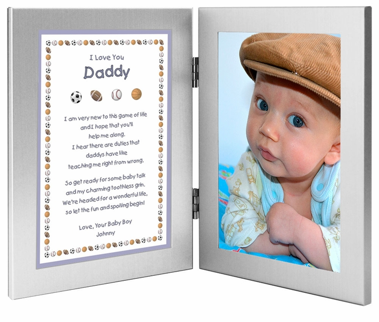 new dad frame from baby son