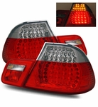 00-03 BMW E46 3-Series Convertible Model LED Performance Tail Lights - Red / Clear