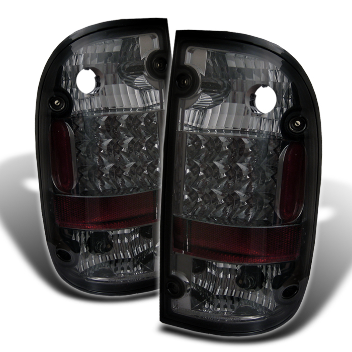 01 04 toyota tacoma pickup euro led tail lights smoked. Black Bedroom Furniture Sets. Home Design Ideas