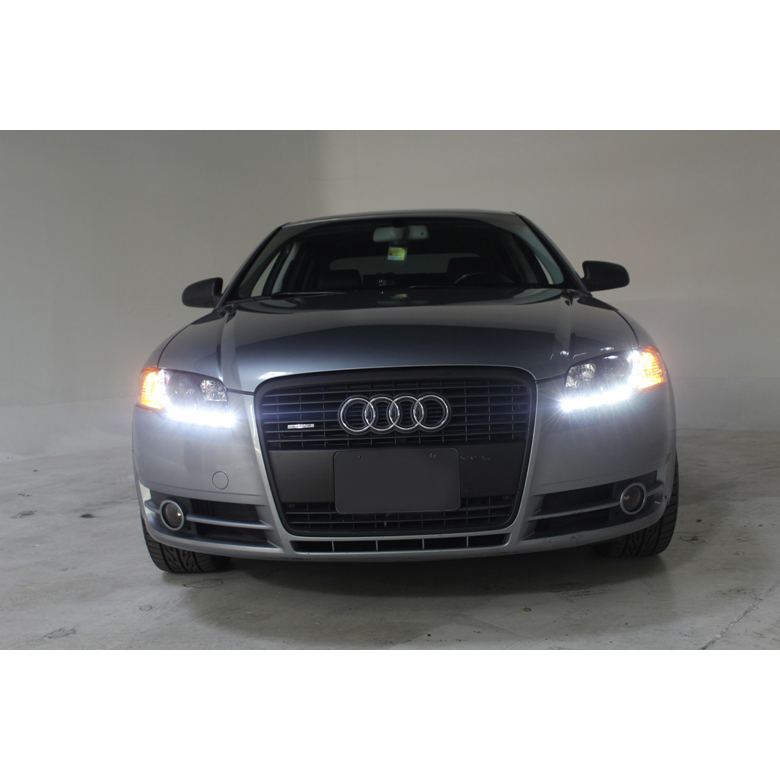Audi A4 2002 Price: 2002-2005 Audi A4 DRL LED R8 Style Projector Headlights
