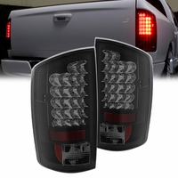 02-05 Dodge Ram Pickup Euro LED Tail Lights - Black / Smoked