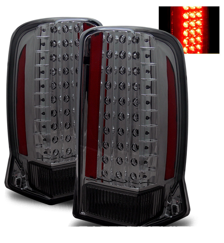 02 06 cadillac escalade led performance tail lights smoked. Black Bedroom Furniture Sets. Home Design Ideas