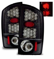 02-06 Dodge Ram 1500 / 2500 / 3500 Euro LED Tail Lights - Black