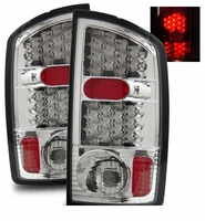 02-06 Dodge Ram 1500 / 2500 / 3500 Euro LED Tail Lights - Chrome