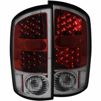 02-06 Dodge Ram 1500 / 2500 / 3500 Euro LED Tail Lights - Red / Smoked