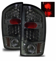 02-06 Dodge Ram 1500 / 2500 / 3500 Euro LED Tail Lights - Smoked