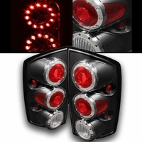 02-06 Dodge Ram 1500 2500 Euro Style LED Tail Lights - Black ALT-ON-DRAM02-LED-BK By Spyder