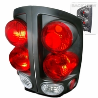02-06 Dodge Ram 1500 2500 Pickup 3D Style Tail Lights - Black